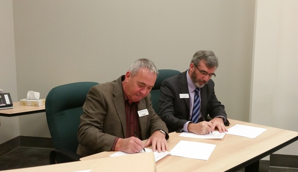 Peter Gaffney and Dan Stanford Sign PED-CFDC MOU November 2015